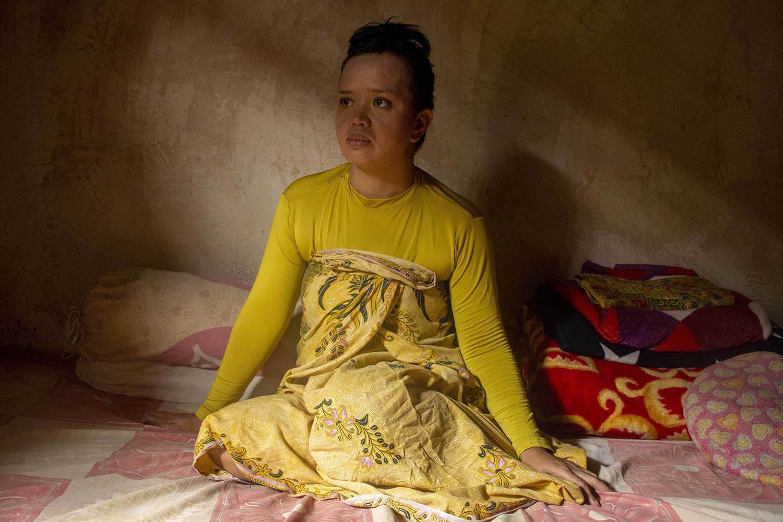 Potret Nindra A.N saat difoto di rumahnya di Desa Pacelekang, Gowa, Sulsel, Kamis (04/08/2020)