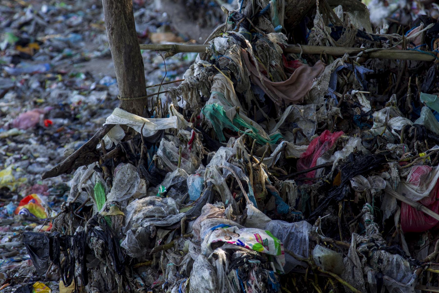 Sampah plastik di kawasan hutan mangrove di dominasi oleh produk kebutuhan rumah tangga, makanan dan minuman serta berbagai macam jenis jaring yang dibuang oleh nelayan.