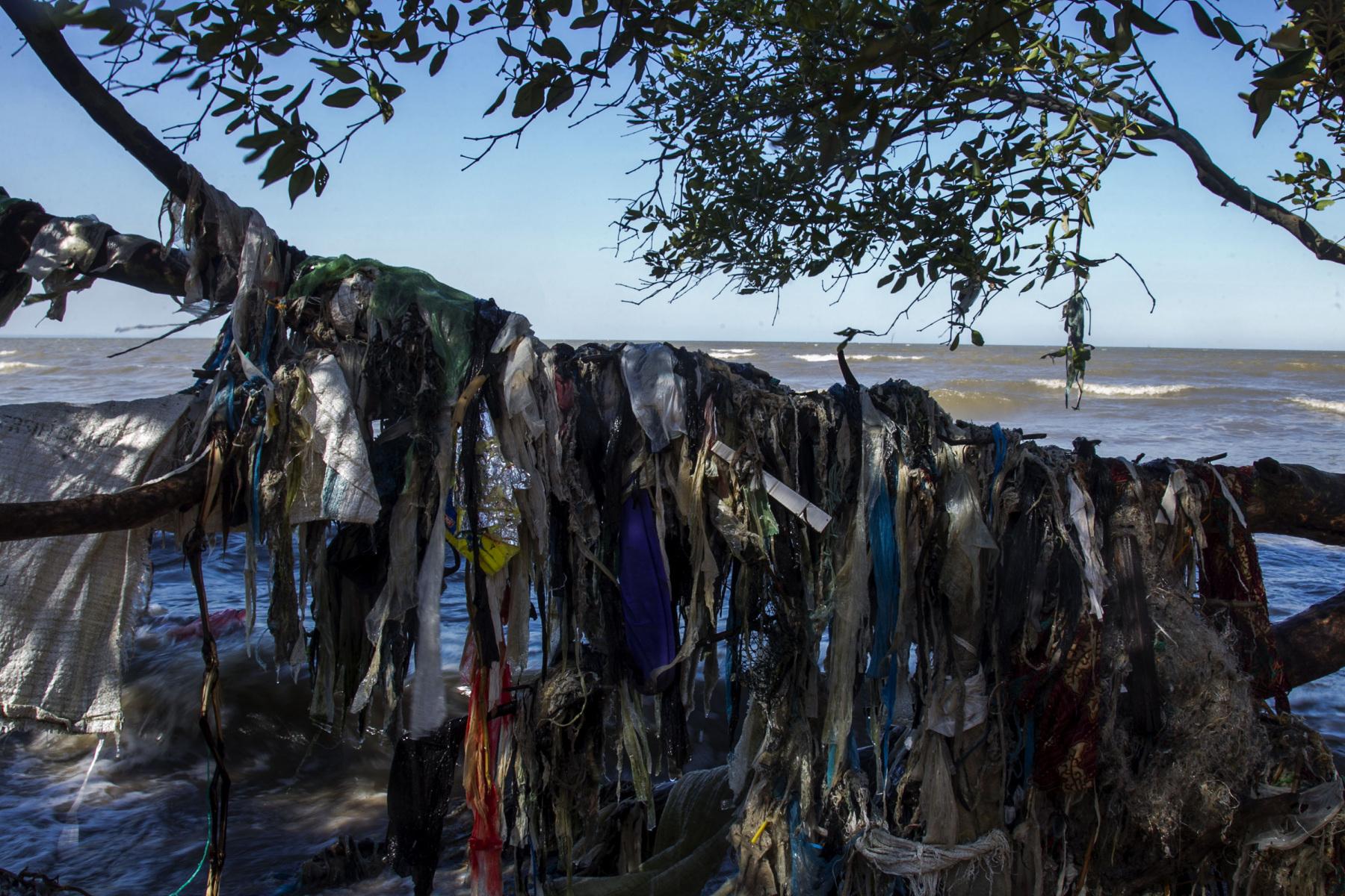 Pasang surut air laut memberikan dampak signifikan terhadap timbunan sampah plastik di estuari atau muara sungai. Karena estuari adalah tempat bertemunya aliran sungai dengan wilayah perairan laut.